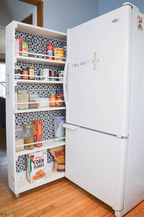 Diy Pull Out Pantry By Refrigerator